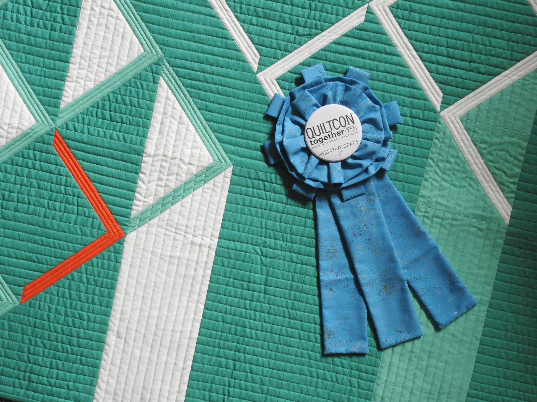 Downstream and QuiltCon Together Ribbon