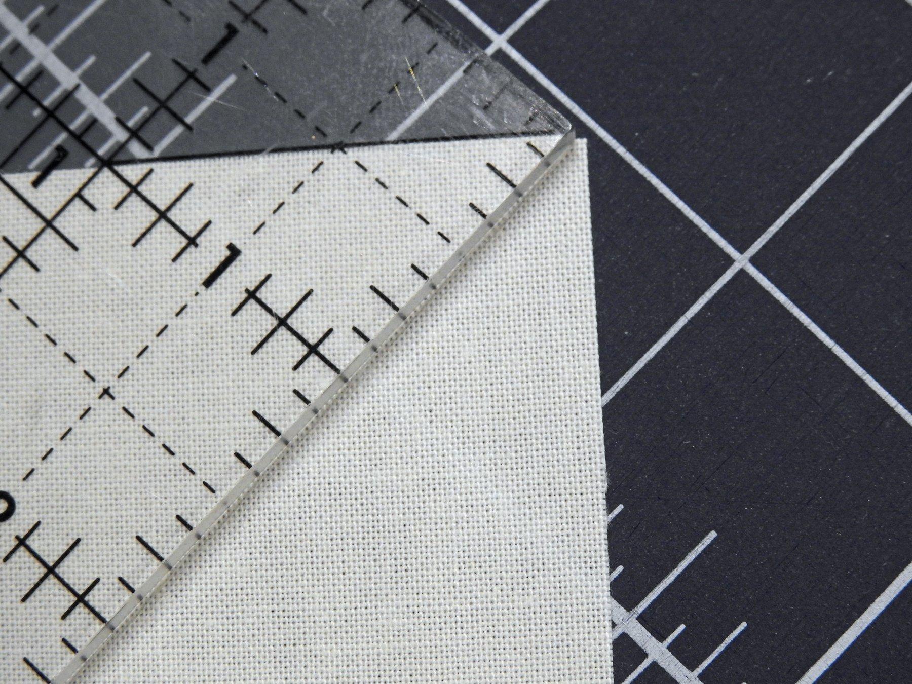 Nudge Ruler When Cutting Squares Diagonally - Detail