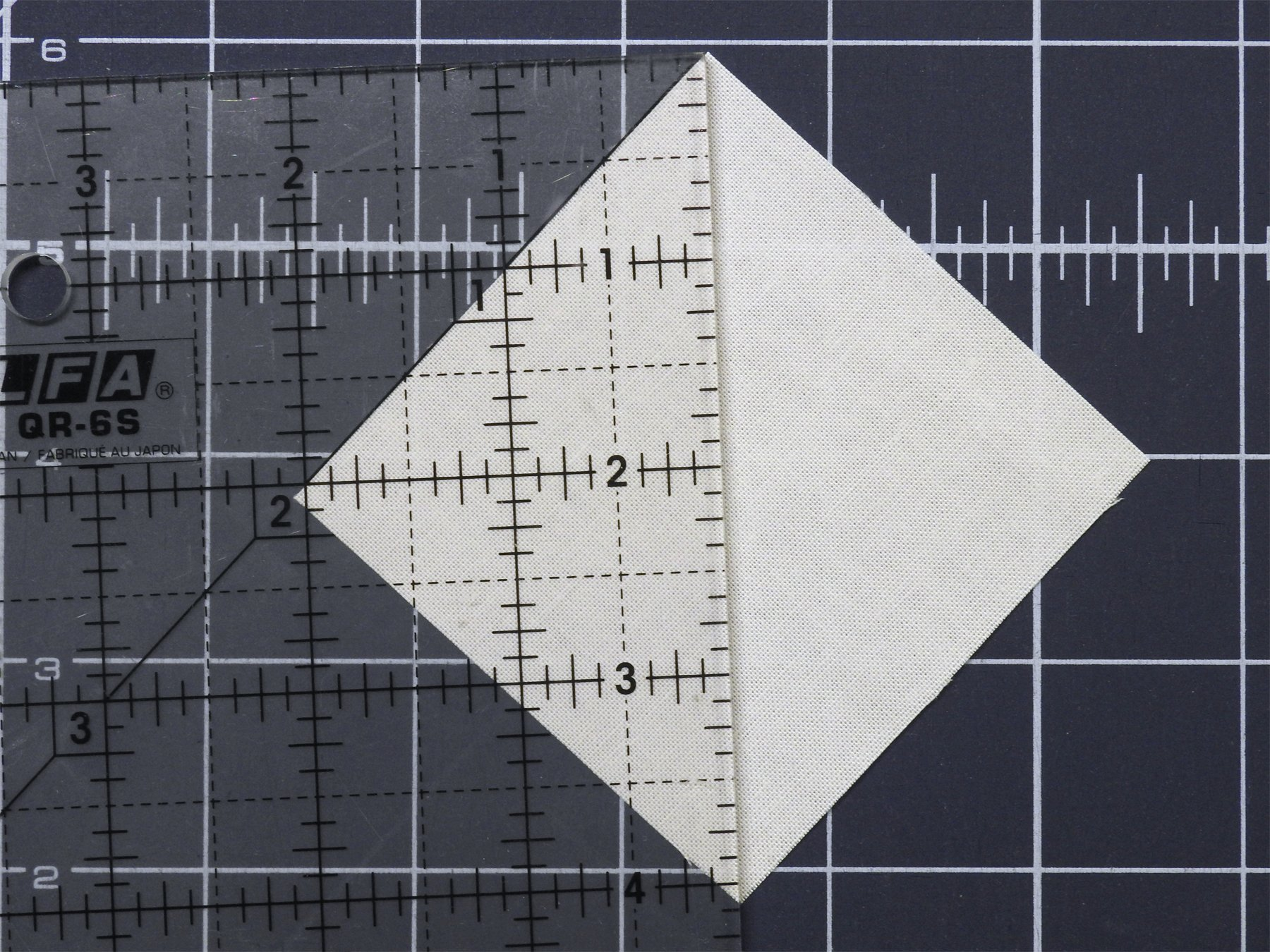Nudge Ruler When Cutting Squares Diagonally