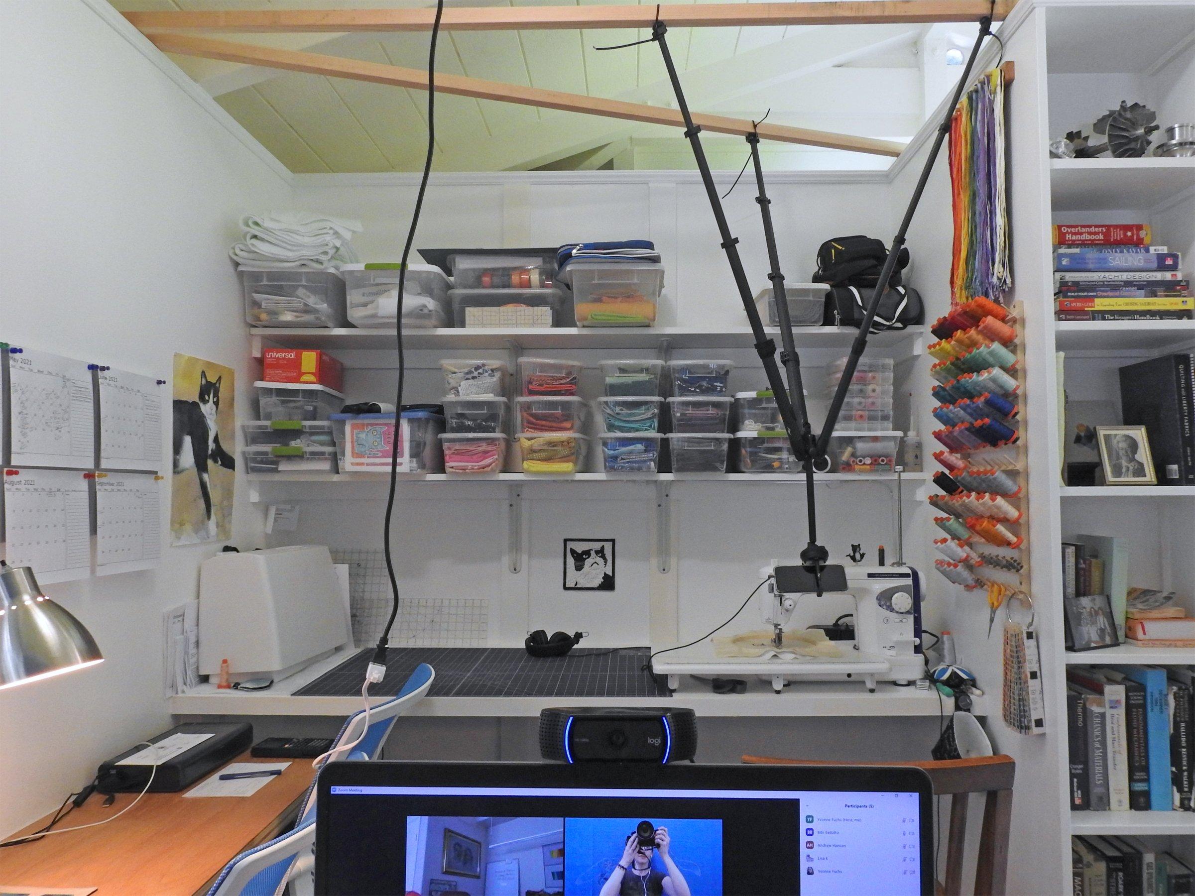 Behind the Scenes - Sewing Machine Demo Setup