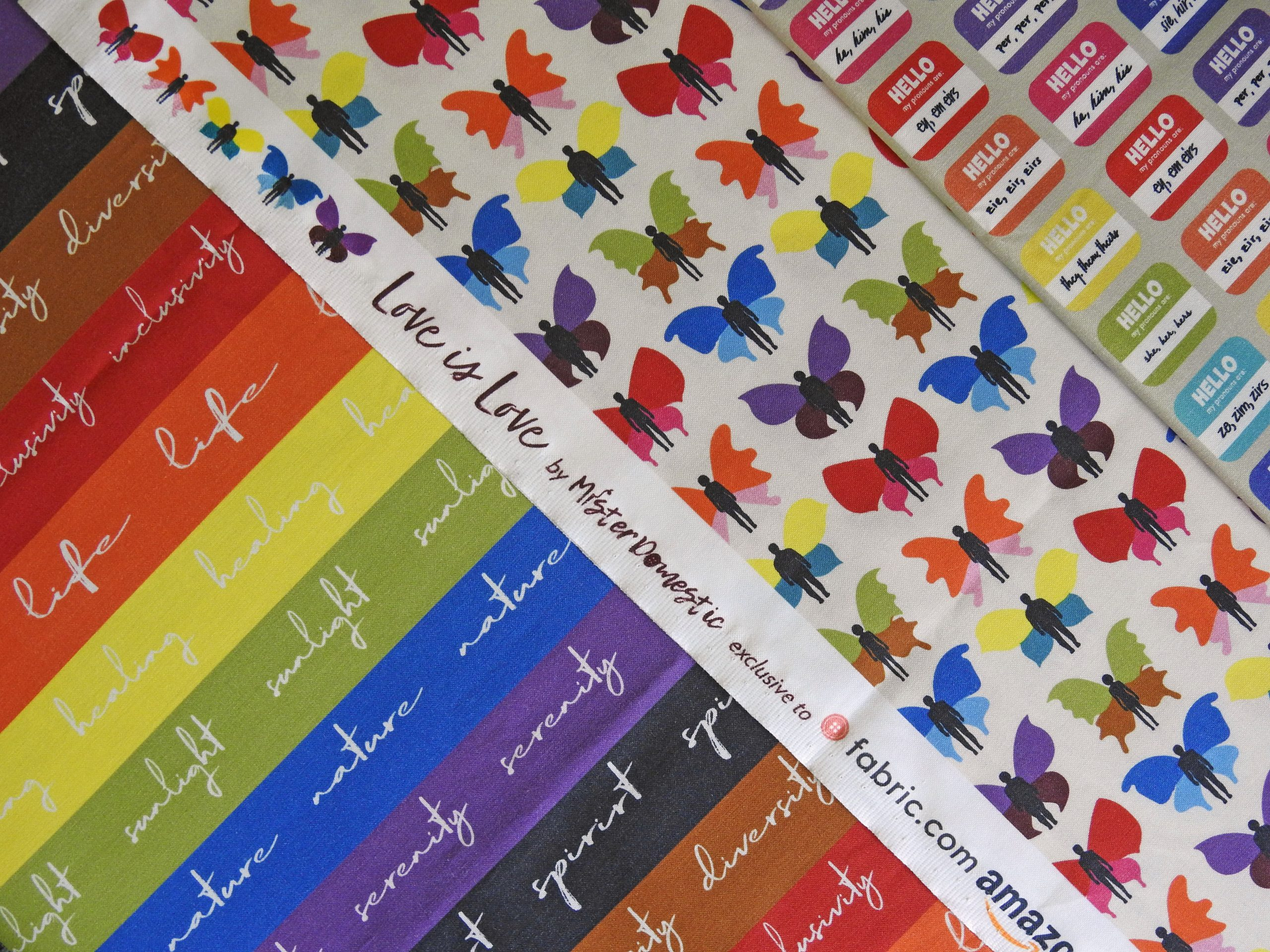 Love is Love Pride Fabric Collection