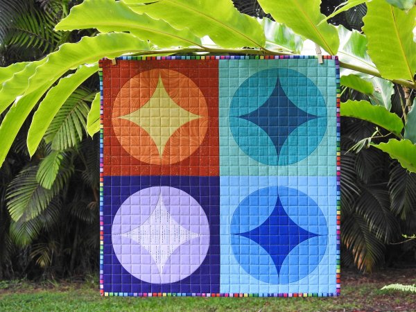 Cathedral Stars Mini Quilt