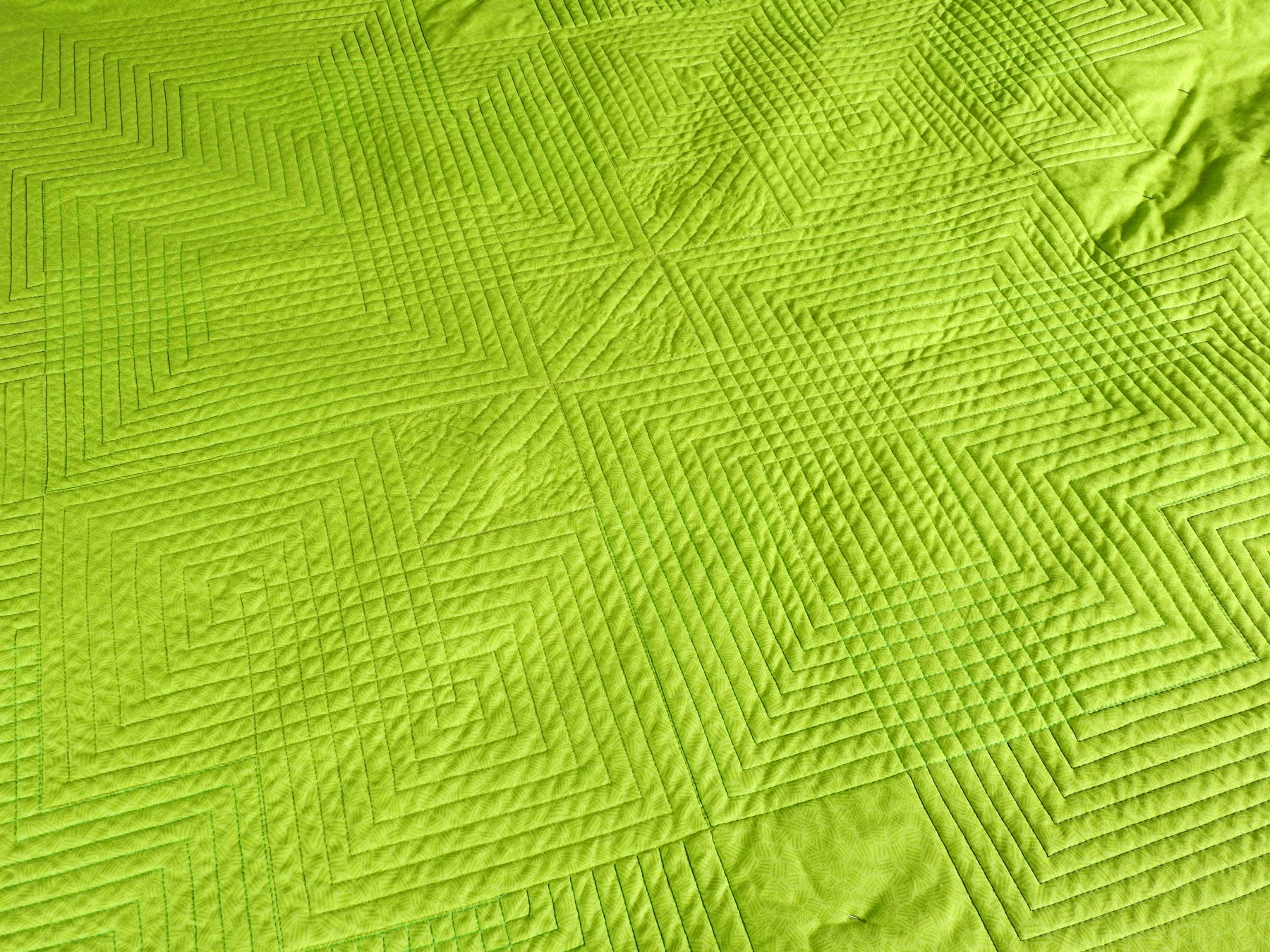 Planview Quilting Progress - Quilt Backing