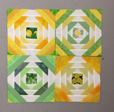 These are the four blocks I finished during class.