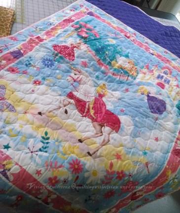 girls back pack blanket