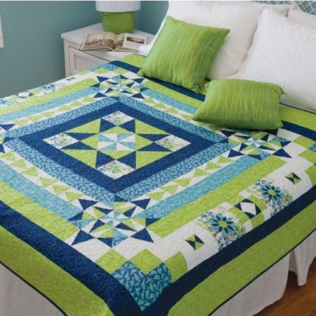Boxing the Compass Throw Quilt Pattern 2 e1586807453752