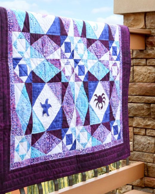 Storm at Sea Life Medley Throw Quilt Pattern