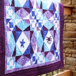 Storm at Sea Life Medley Throw Quilt Pattern (2)