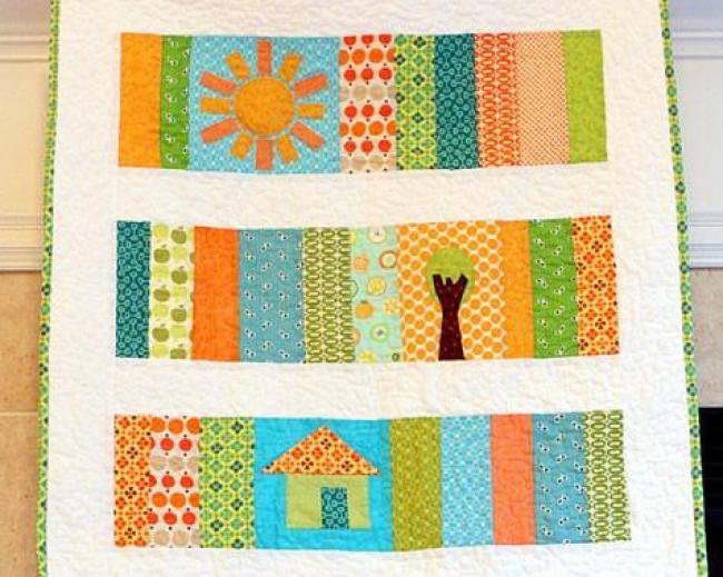 Sunshine Slice of Life Baby Quilt 1