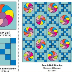 Beach Ball Quilt with Tote Bag Free Pattern (1)
