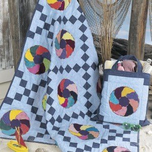 Beach Ball Quilt with Tote Bag Free Pattern (2)