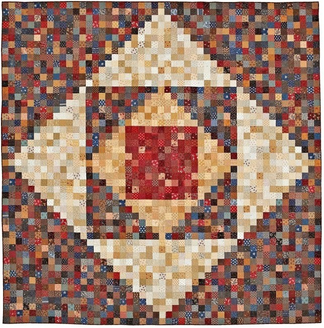 Quilt pattern with lots of squares