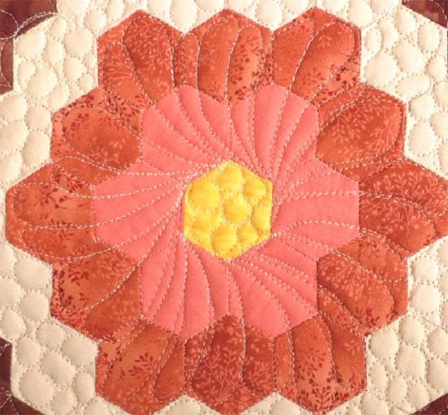 Quilt Hexagons Floral