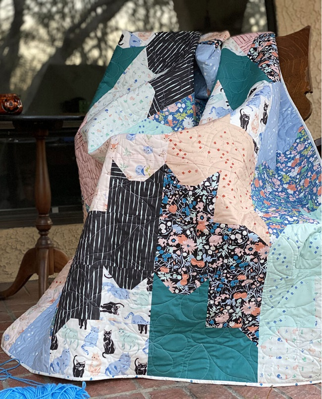 Cats on Cats Quilt Tutorial