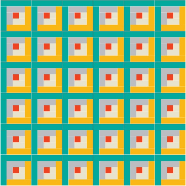 Log Cabin Quilt Pattern - Suzy Quilts