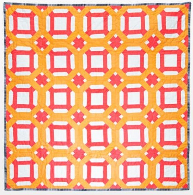 Round a bout throw quilt pattern