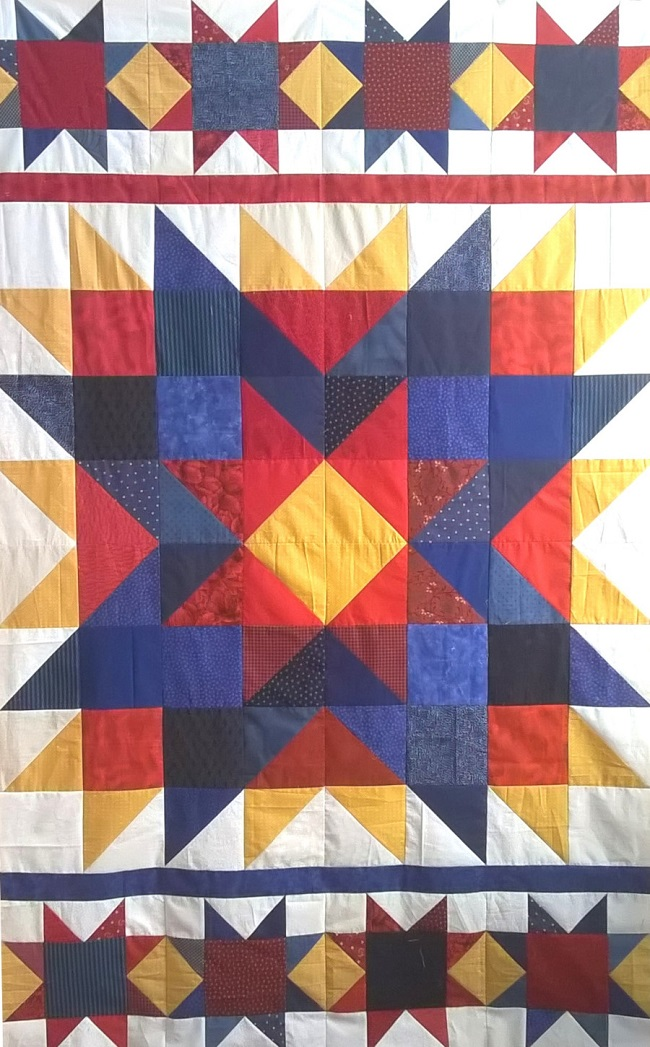 Triple Star Free quilt pattern by Julia-Graves