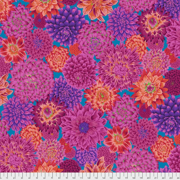 Kaffe Fassett Collective - Dancing Dahlias - Red