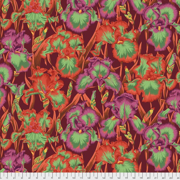 Kaffe Fassett Collective - Bearded Iris - Red