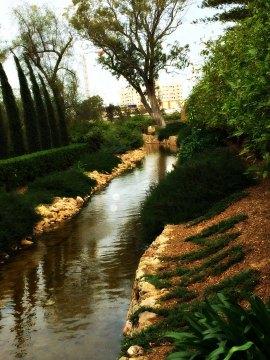Ridvan Garden stream