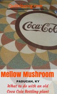 Visit the artsy Mellow Mushroom in the old Coca Cola bottling plant in Paducah, KY #paducah #m3llowmushroom #oldcocacolaplant