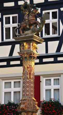 St. George killing the dragon
