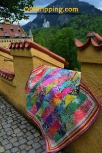 "The front of ""MY Bohemian Princess"" quilt #quilt #tulapink #princessquilt #halfsquaretrianglequilt"