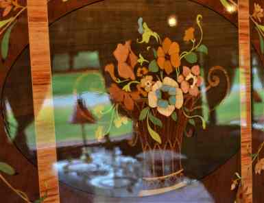 The beautiful marquetry detail