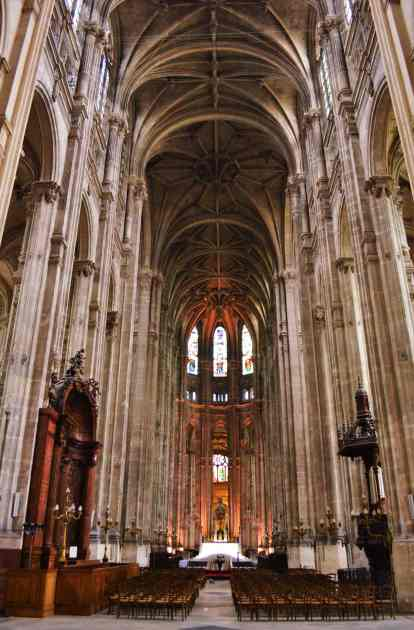 The large interior of St. Eustache
