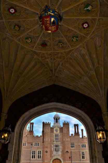Entering the Base Court through the main entrance