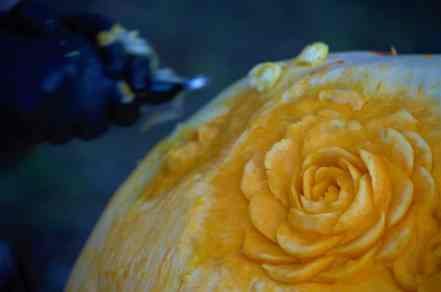 Another artist carves out delicate roses