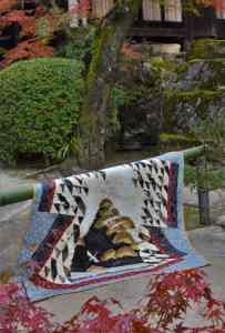 Japan inspired kimono quilt