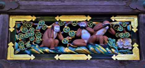 Toshogu three monkeys