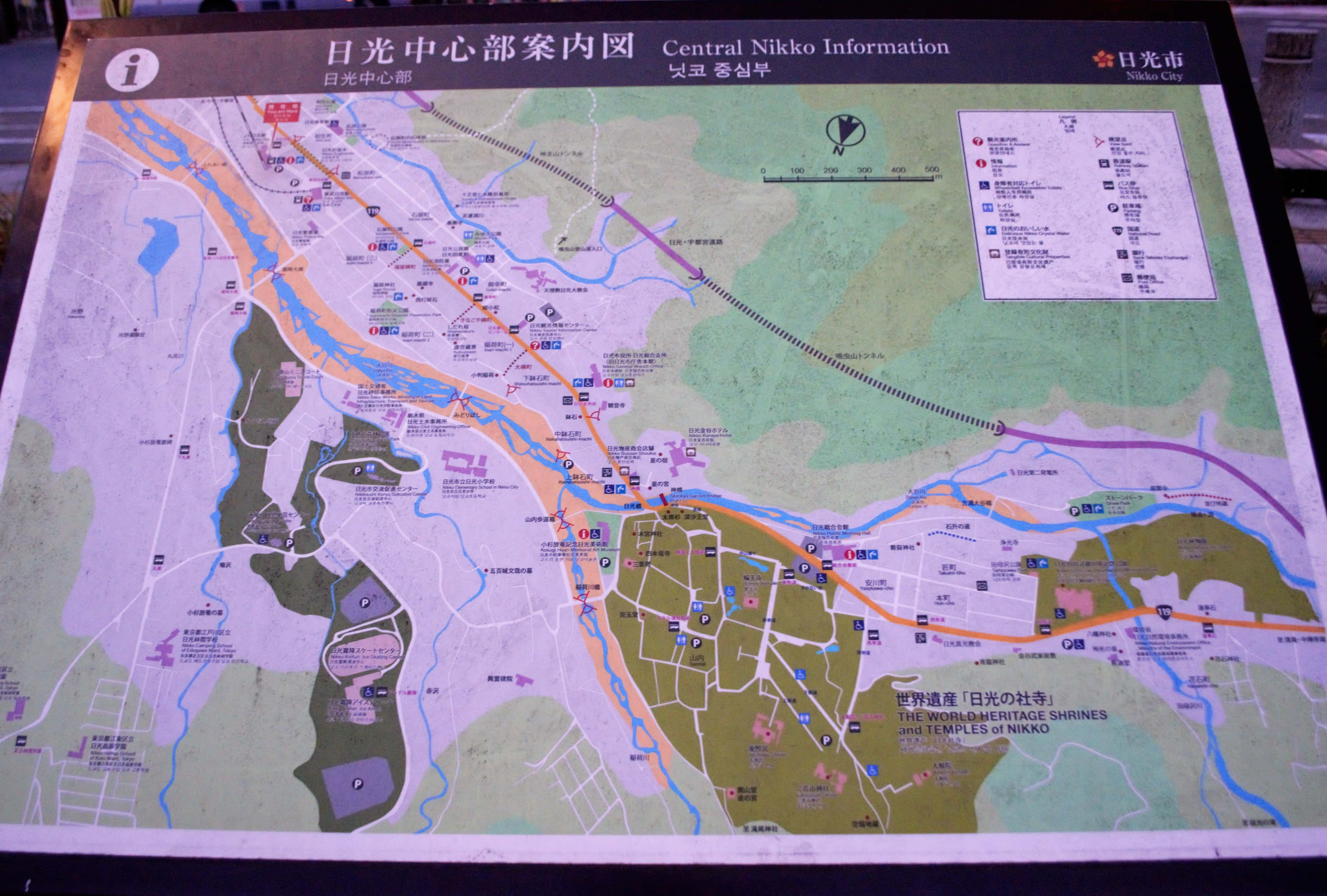 Map of NIkko area