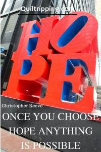 Once you choose hope, anything is possible. HOPE sculpture in New York city