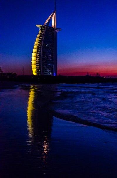 Burj Al Arab after sunset