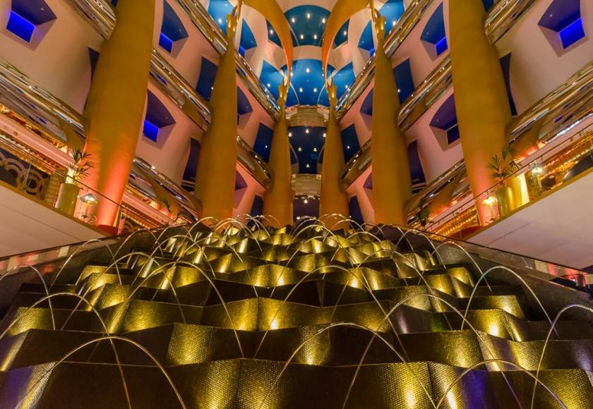 Burj Al Arab lobby fountain