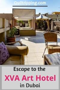 The unique boutique XVA Art hotel is lovely romantic escape in the Dubai's historic Al Fahidi neighborhood  #dubai #boutiquehotel #xvaarthotel