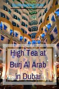 high tea at Burj AlArab