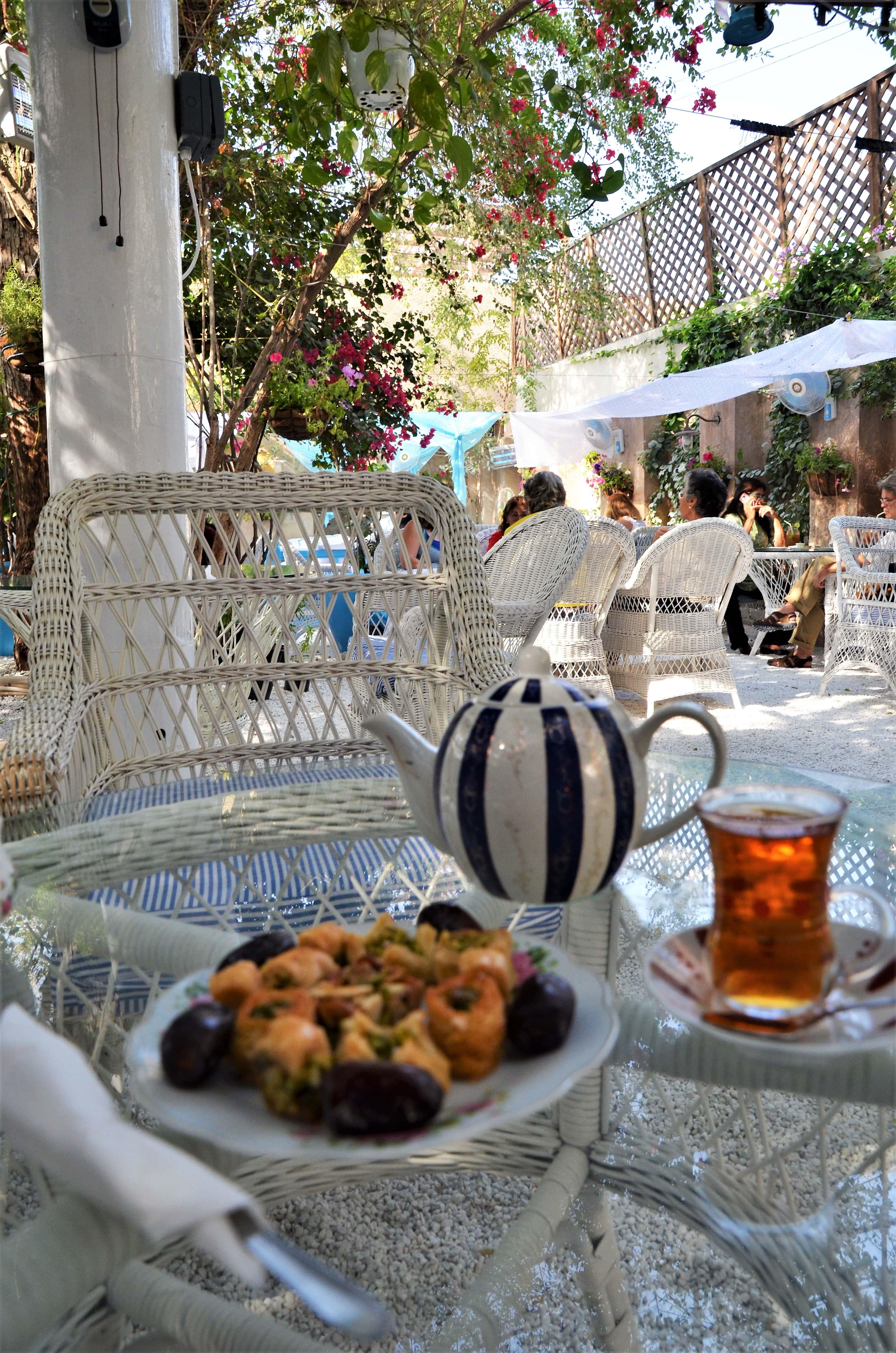 Tea and desert at the Arabian Tea House