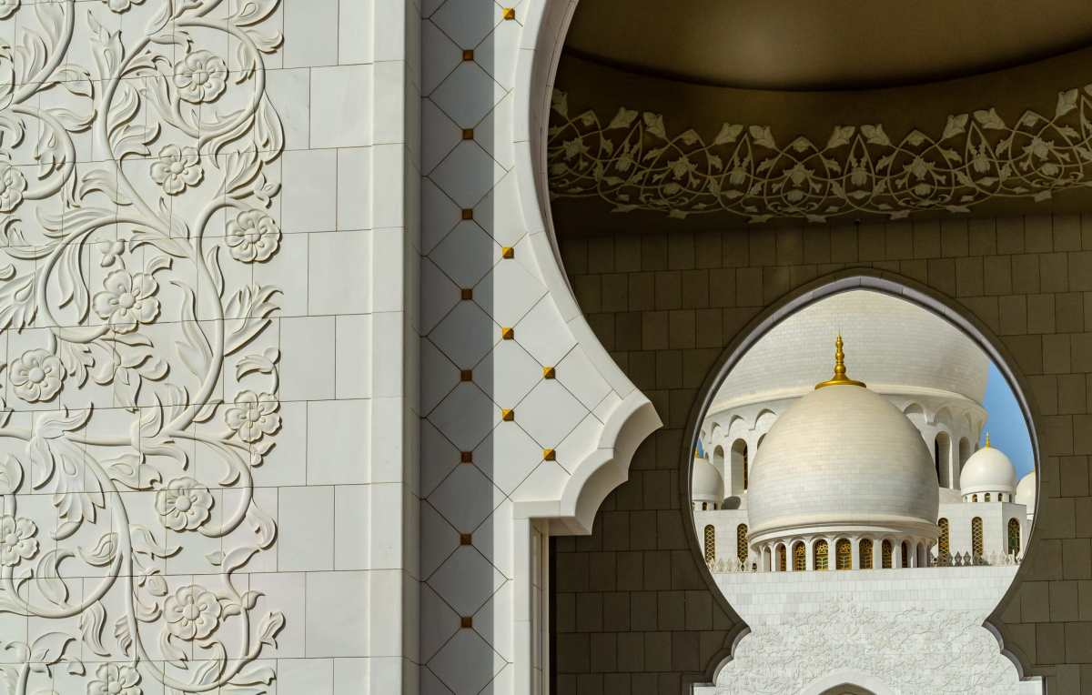 PhotoPOSTcard: Sheikh Zayed Mosque in Abu Dhabi
