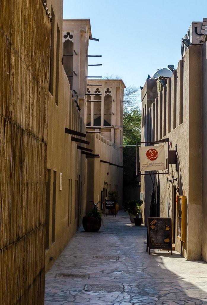 The narrow lanes of Al Fahidi historic district