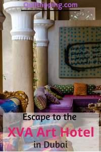 Experience the unique boutique XVA Art hotel  #dubai #boutiquehotel #xvaarthotel