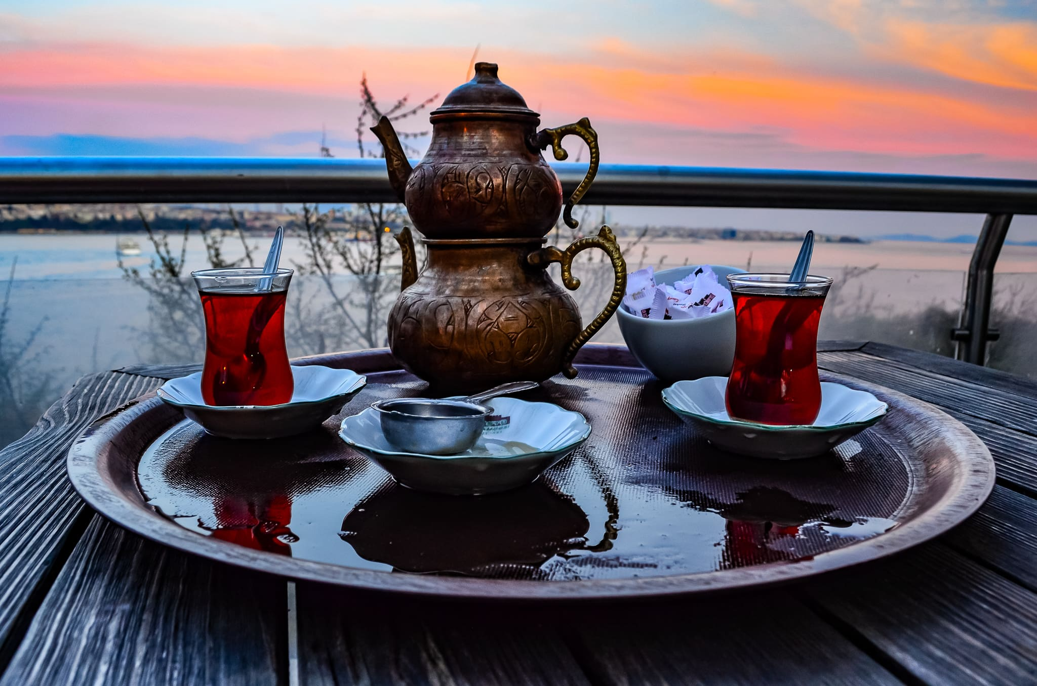 Turkish tea in Istanbul
