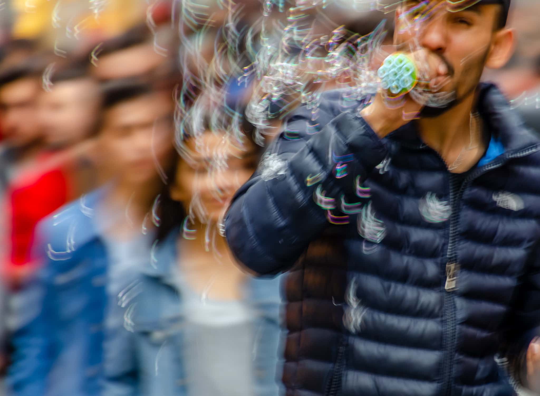 Bubble man on Istiklal Avenue