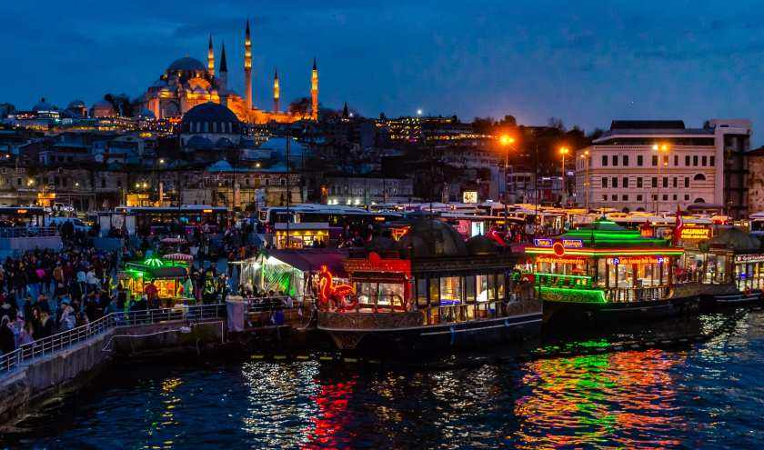 View of Istanbul at Dusk