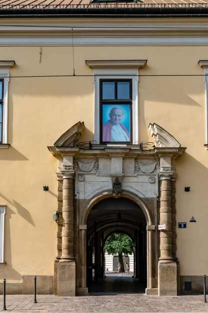 Building's where Pope John Paul II lived during his many years in Krakow