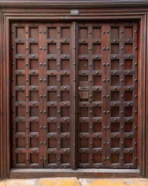 Indian style door in Stone Town, Zanzibar