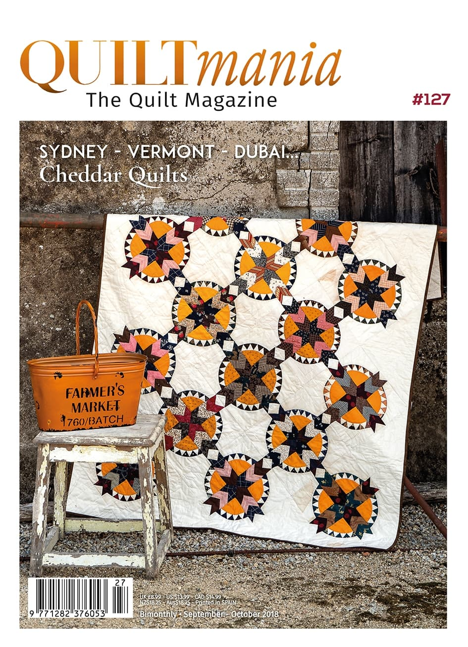 My Dubai Quilt Show Article is in the Latest Quiltmania Issue