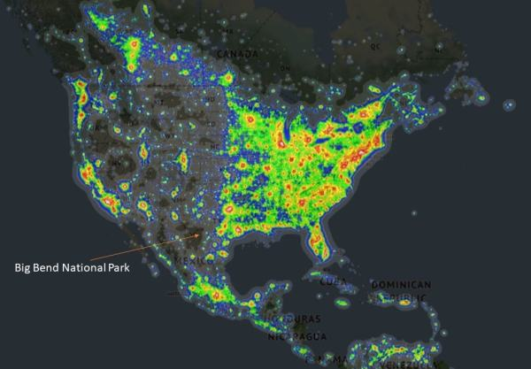 Dark Sky Map of US